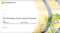 esg risk rating and corporate perspective