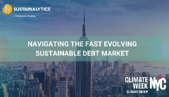 Navigating the fast evolving sustainable debt market event banner
