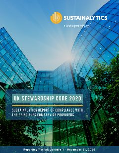 UK stewardship code cover